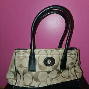 Coach Signature Madeline Tote Satchel Bag